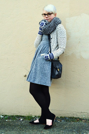 navy Primark scarf - heather gray madewell dress