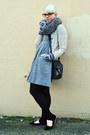 Heather-gray-madewell-dress-black-heat-tech-uniqlo-leggings