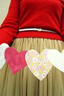 Beige-forever21-skirt-red-wool-lands-end-sweater-white-h-m-belt