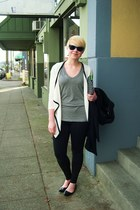 ivory Tisvin cardigan - black Zella leggings - black ipad case kate spade bag