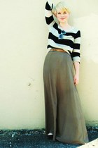 light brown Forever21 skirt - black H&M sweater
