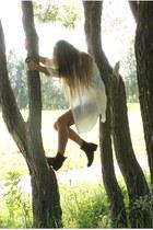 blouse - boots - shorts