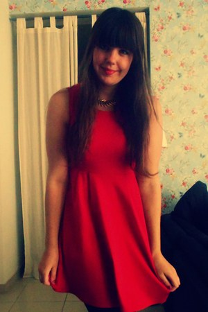 Primark dress - I am necklace