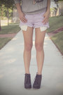 Light-purple-distressed-hot-forever-21-shorts-heather-gray-print-fifi-lapin-ju