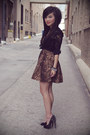 Brown-leopard-print-romwe-dress-silver-spiked-forever-21-bracelet-black-lace