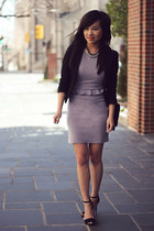 light purple ottoman fitted Love dress - black classic H&M blazer