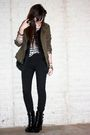 Green-h-m-jacket-black-forever-21-vest-white-h-m-divided-black-t-shirt-bla