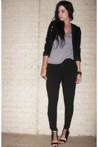 H&M Trend jacket - Forever 21 t-shirt - Forever 21 pants - Aldo shoes - Target b