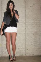 silver Forever 21 necklace - black Aldo shoes - gray H&M jacket