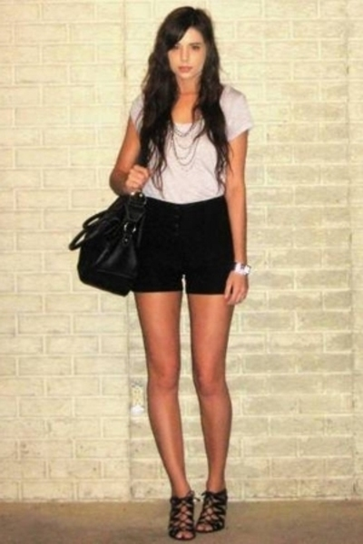forever 21 t-shirt - forever 21 shorts - Target purse - Aldo shoes - forever 21 