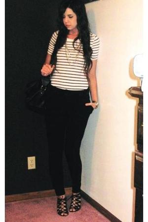 h&m dress turned top - forever 21 pants - Target - Aldo - forever 21 necklace -