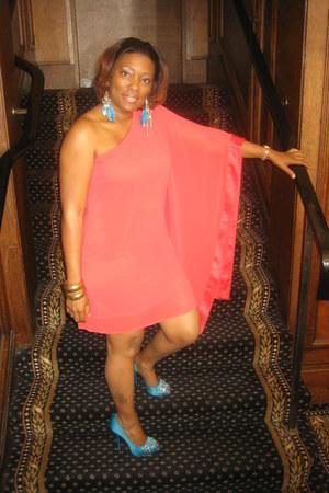 Lipsy London dress - Nina heels - turquoise Forever 21 earrings