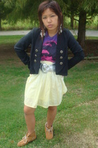 Forever21 blazer - Wetseal belt - Forever21 earrings - Wetseal skirt