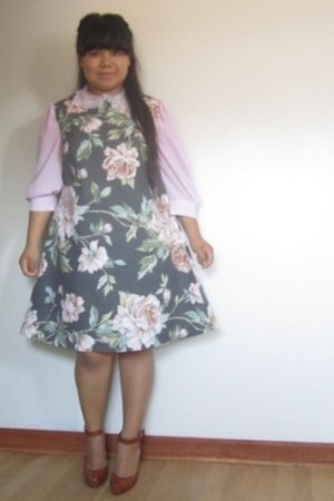 gray handmade dress