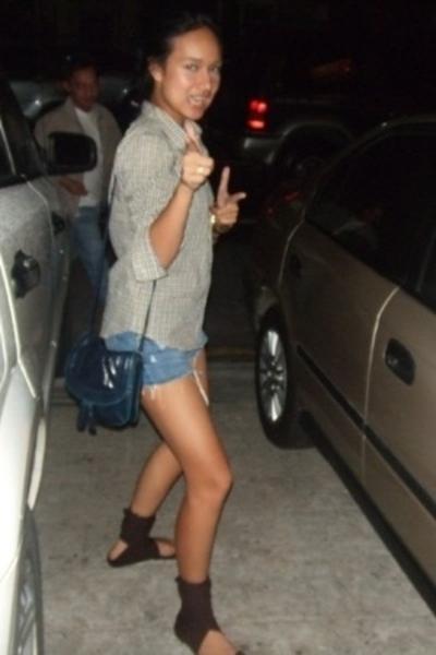 blouse - Mossimo shorts - Mango purse - shoes