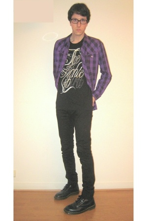 Secondhand shirt - april 77 jeans - Dr Martens boots - Zara t-shirt