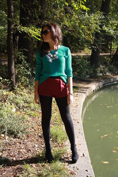 H&M shorts - Zara wedges - Zara necklace