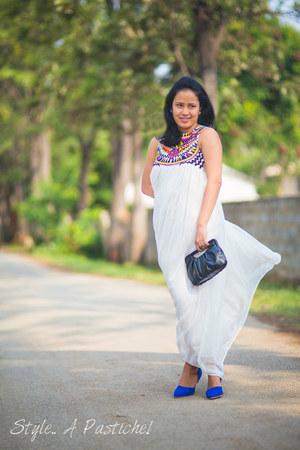 cobalt blue Lovelywholesalecom shoes - chiffon Sheinsidecom dress