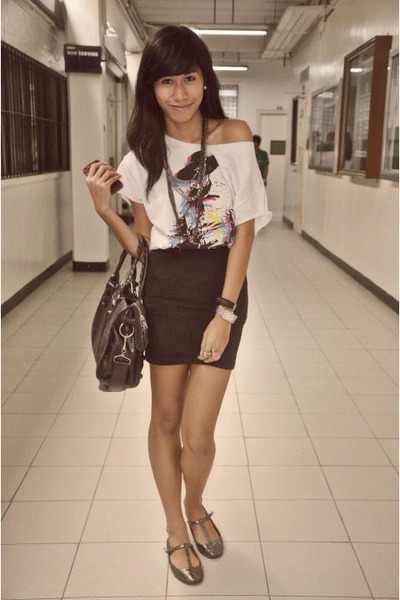 white Peace Love Fashion blouse - Dept Store blouse - Topshop shoes - balenciaga
