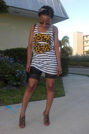 H&M shirt - Boutique9 shoes - black American Apparel shorts