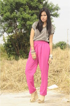 hot pink Vintage from my mom pants - Shop OnTrend accessories