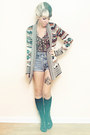 Black-lace-up-dolce-vita-boots-teal-cardigan-urban-outfitters-sweater