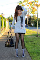 gray Forever 21 sweater - gray Forever 21 shoes