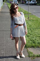 white H&M dress - beige Forever21 purse