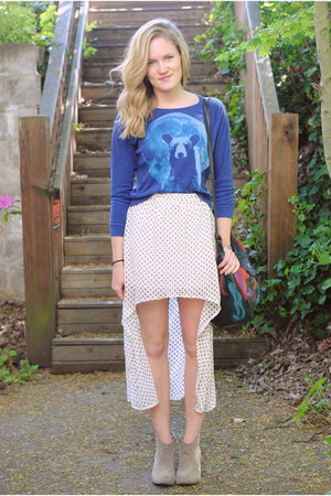 cream Buffalo Exchange skirt - camel Charlotte Russe boots