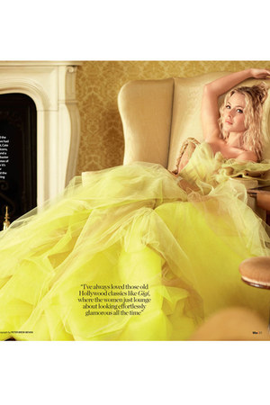 yellow tulle dress