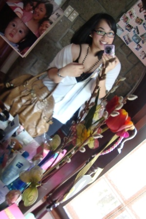 Mango top - Charles & Keith purse - calvin klein glasses