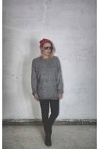 sweater - sunglasses