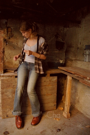 Vintage Woodcutter shirt - Emily Bront top - old jeans - Church & State shoes -