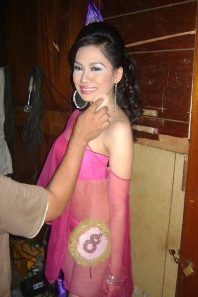 hot pink bra Charm n Style bra - silver earrings Jos Jewelry Box earrings