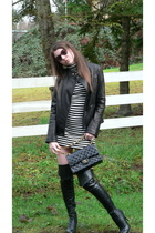 black Michael Kors jacket - black Chanel lambskin 255 accessories - white Foreve