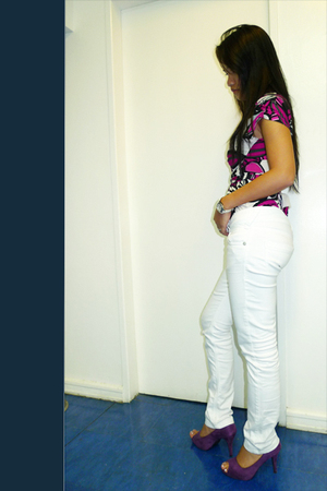 Mango jeans - Elegance shoes - shape blouse
