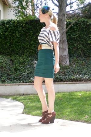 Nordstrom skirt - forever 21 top - Soho New York belt - Soho New York shoes - Ur