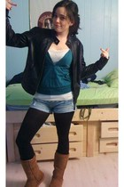 Silence  Noise jacket - Damsel sweater - TJMaxx shorts - DKNY tights - costco bo
