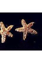 Blingbling Starfish Shaped Stud Earrings