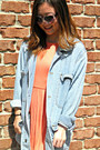Periwinkle-vintage-jacket-coral-silence-noise-dress