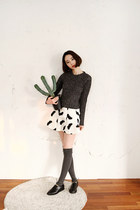 white skirt FashionToAny skirt - gray American Apparel socks