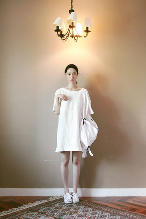 white linen FashionToAny dress