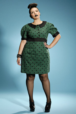 green polkadot Domino Dollhouse dress