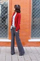 asos boots - Zara pants - Zara t-shirt - H&M cardigan