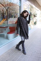 gray dark gray knit Pimkie cardigan - heather gray H&M dress
