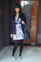 vintage blazer - Ebay dress - Zara shoes