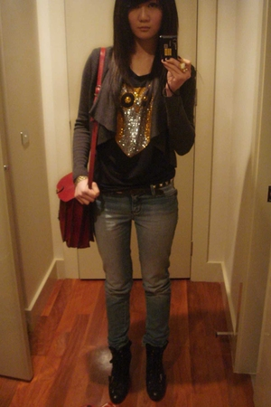 Topshop top - Topshop top - vintage accessories - YSL accessories - Nine West sh