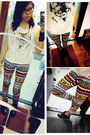 Tribal-prints-h-m-jeans-white-shirt-oh-my-love-top