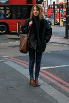 Zara jeans - frau boots - vintage coat - Timberland bag