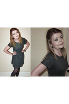 charcoal gray Topshop dress